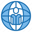 earth, globe, human, manager, plan, resources, world icon