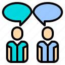chat, communication, human, manager, message, plan, resources icon