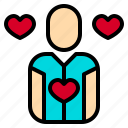 heart, human, like, love, manager, plan, resources icon
