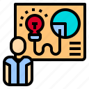 business, human, manager, plan, presenter, resources icon