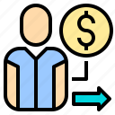 elderly, human, manager, plan, resources, retire, retirement icon