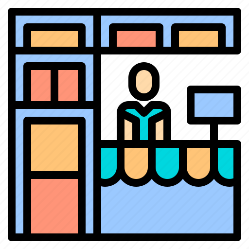 human, manager, plan, resources, shop, shopping, store icon