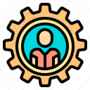 help, human, manager, plan, resources, service, support icon