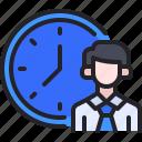 employee, time, work, avatar, office
