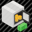 digital locker, safe box, wealth, bank locker, bank safe, locker, bank vault icon