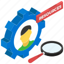 executive search, finding employee, headhunting, human resource, job hunting, recruiting icon