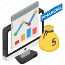 business chart, business infographic, financial management, money management, online graph icon