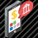 banking app, banking application, electronic banking, online banking, smartphone banking icon