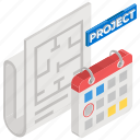 project management, project plan, strategy plan, workflow planning, business scheme icon