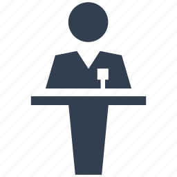 businees, conference hall, human, manager, men, person, presentation, resource, stage, training icon