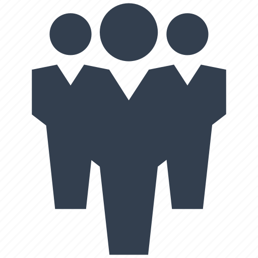 business, crowd, group, human, men, people, person, resource, team icon