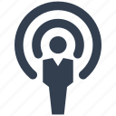 antena, communication, human, man, person, resource, rss icon