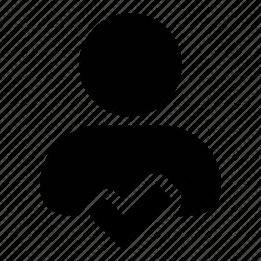 accept, approve, check, human, profile, tick, user icon