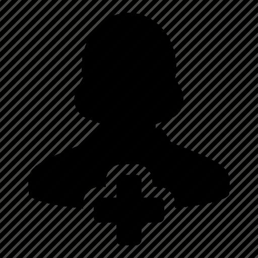 account, add, female, new, user, woman icon