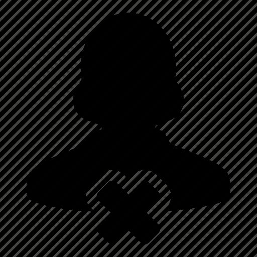 delete, female, human, remove, user, woman icon