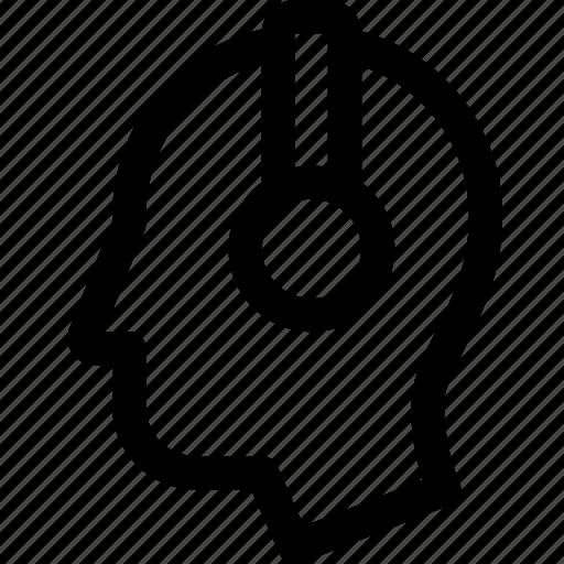 head, headphones, human, music, person, profile icon