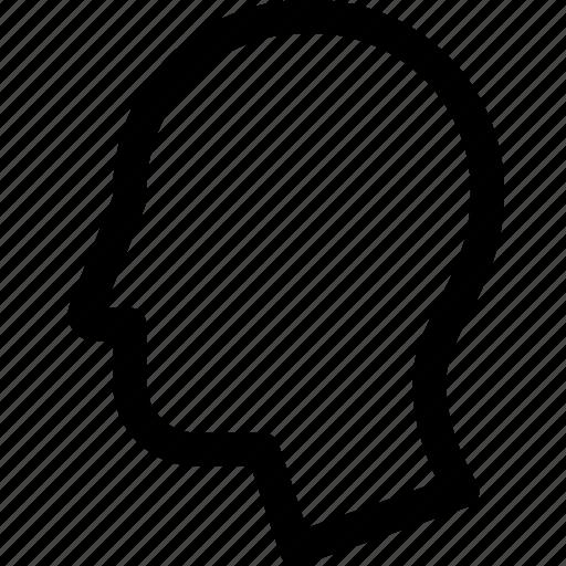 face, head, human, nose, person, profile icon