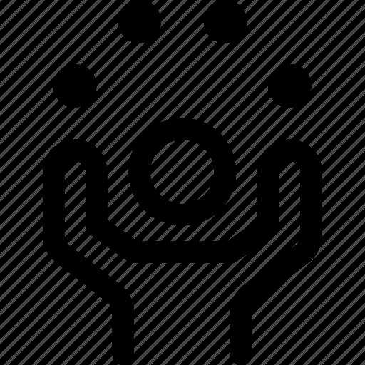circle, elements, happiness, human, life, vitality icon
