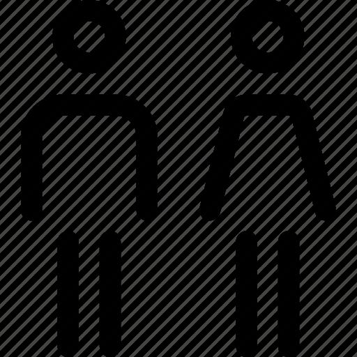 couple, female, humans, male, people, unisex icon