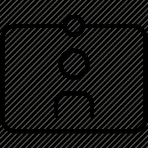 avatar, board, card, person, pin, sign icon