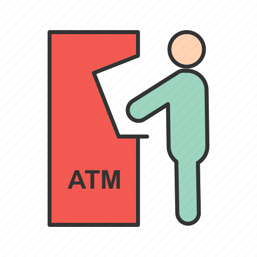 Atm, card, cash, money, receipt, transaction, withdraw icon - Download on Iconfinder
