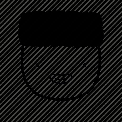 afro, blackpower, boy, emoji, face, old, school icon