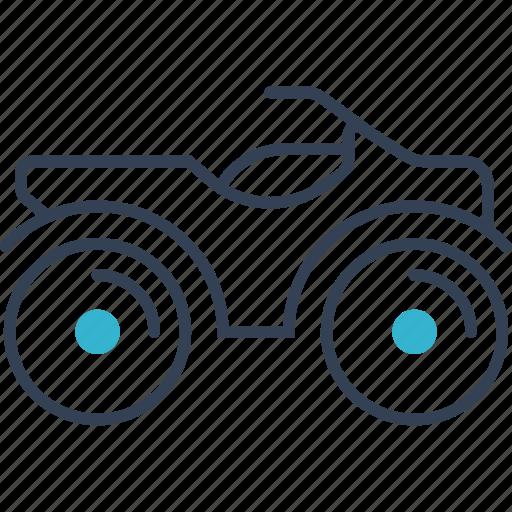 bike, hunting, transport icon