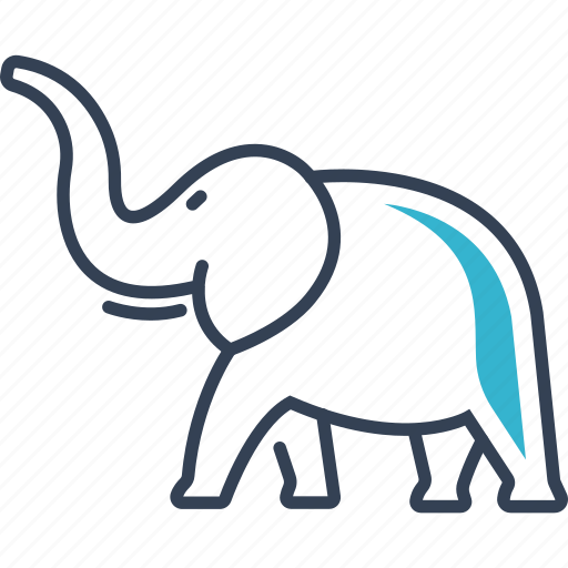 animal, elephant, hunting icon