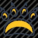 animal, bear, hunting, paw icon
