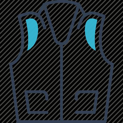 hunting, jacket, vest icon