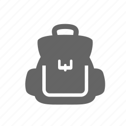 backpack, bag, behind, duffel, rucksack, sack, travel icon