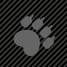 animal, claw, footprint, imprint, mark, paw, trail icon
