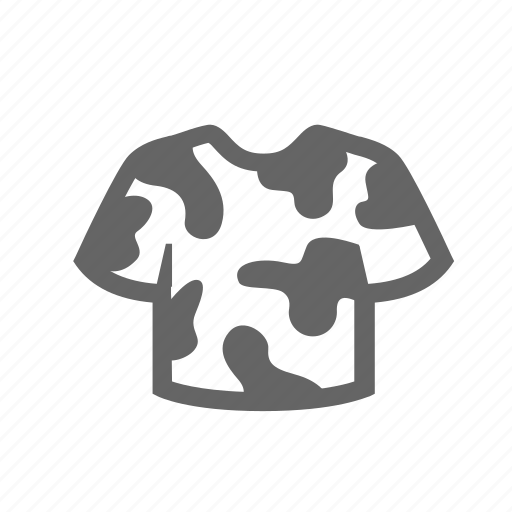 camouflage, clothing, disguise, military, spots, t-shirt icon