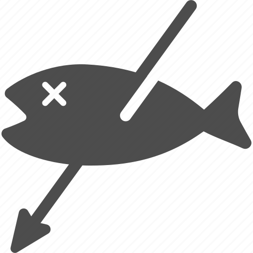 catch, fish, fishing, harpoon, hunt icon