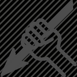 arrow, harpoon, hunt, hunting icon
