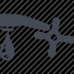 crane, hugiene, tap, water icon