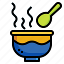 clean0a, cooking, eat, food, hot, serving, spoon icon