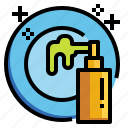 cleaning, dish, dishes, liquid, plates, soap, washing icon
