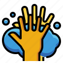 alcohol, cleaning, hand, hands, hygiene, washing icon