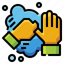 cleaning, fingers, hand, hygiene, sanitizer, washing icon