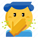 cough, fever, hands, sneeze, sneezing icon