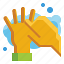 alcohol, arms, cleaning, finger, hand, hygiene, washing icon