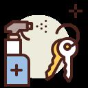 coronavirus, covid19, disinfect, health, keys, quarantine, sars icon