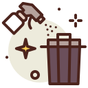 can, covid19, health, quarantine, sars, trash, wipe icon