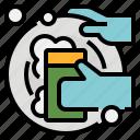 clean, dish, dishwashing, hygiene, wash icon