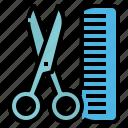 and, barber, comb, hygiene, salon, scissors