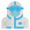 covid, doctor, equipment, personal, ppe, protective icon