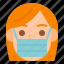 avatar, covid, face, mask, woman