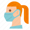 covid, doctor, mask, medical, protective