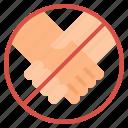 covid, hand, handshake, no, touch, virus